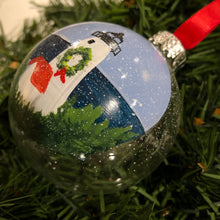Brant Point Hand-Painted Glass Ornament