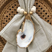 Ivory & Gold Leaf Oyster Shell Napkin Ring