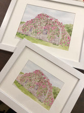 The Sconset Rose Cottage Framed Watercolor Print