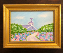 Hydrangeas on Lincoln Avenue Small Oil Painting