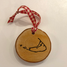 Nantucket Island Birch Red Gingham Ornament