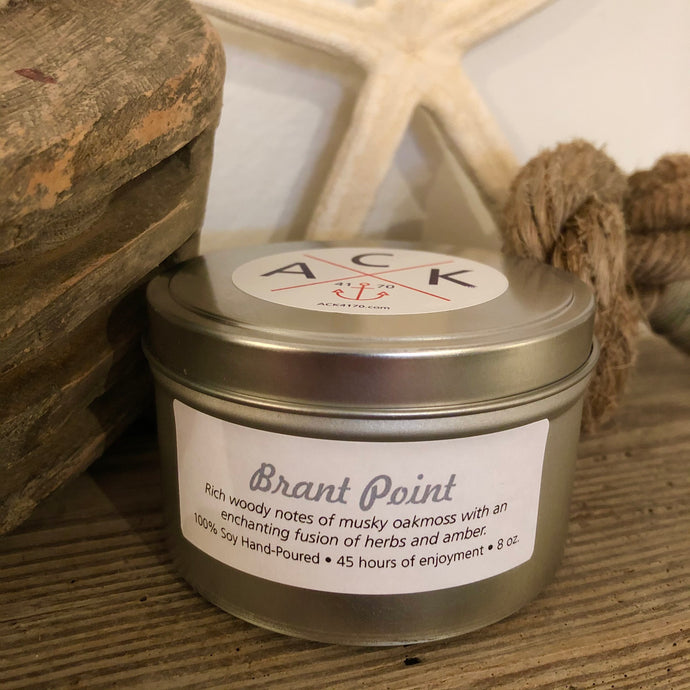 """Brant Point"" Soy Candle Tin"