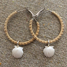 Nantucket Basket Scallop Earrings in Silver