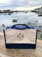 ACK 4170™ Navy & Natural Canvas Market Tote