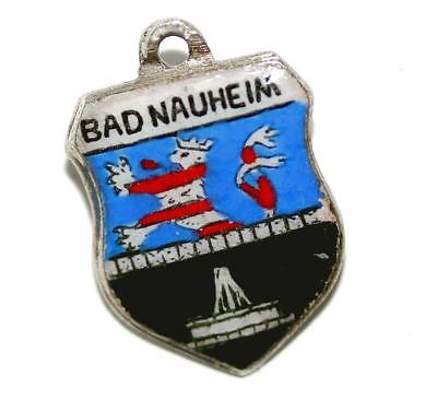 Antiko Bad Nauheim Germany Silver Travel Shield Vintage Bracelet Charm