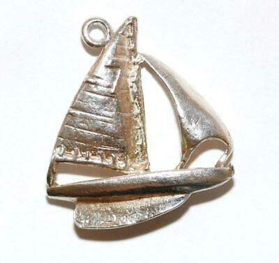 Sailboat Yacht Sterling Silver 925 Vintage Bracelet Charm With Gift Box 2.4g