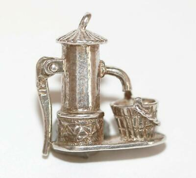 Water Pump With Moving Handle Sterling Silver 925 Vintage Bracelet Charm