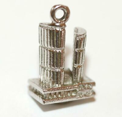 Toronto Canada Dominion Center Sterling Silver Vintage Bracelet Charm by A&M