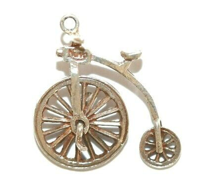 Nuvo Moving Big Wheel Bicycle Sterling Silver 925 Vintage Charm