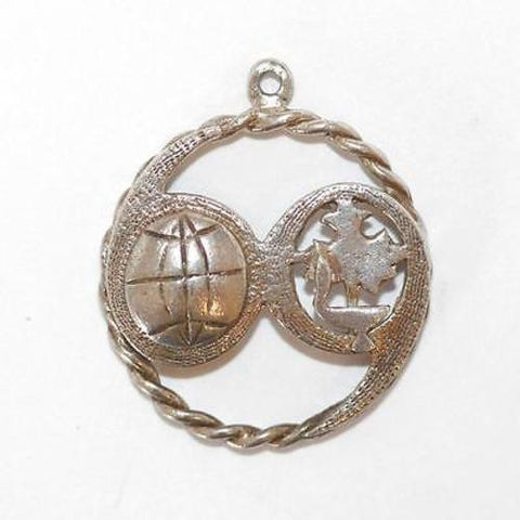 Canada 1969 Soccer Ball Tournament Sterling Silver Vintage Bracelet Charm
