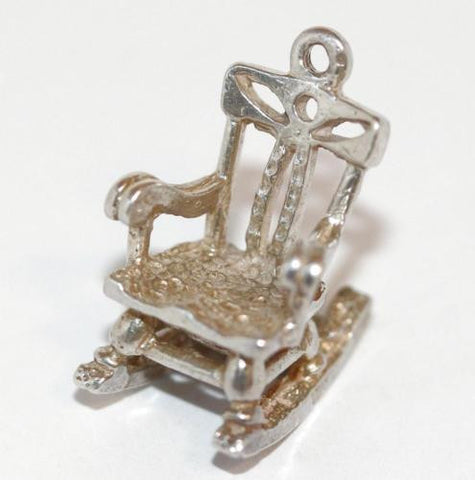 Chim Rocking Chair Sterling Silver Vintage Bracelet Charm