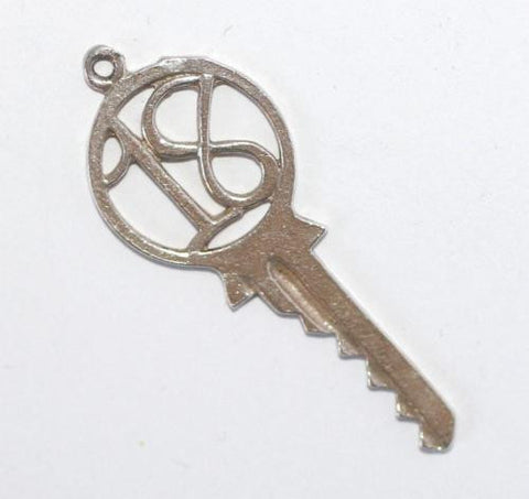 Vintage 18th Birthday Key Sterling Silver Bracelet Charm Pendant