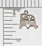 Water Wheel Bridge Sterling Silver  Vintage Bracelet Charm 2.6g