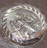 Rare Chim Saint Christopher Tag Sterling Silver Vintage Charm Pendant