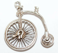 Moving Boneshaker Bicycle Sterling Silver Vintage Charm With Gift Box 2.3g