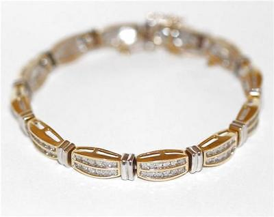 1.75 carats Diamond Tennis Bracelet 14k Gold, Heavy Setting 19gm