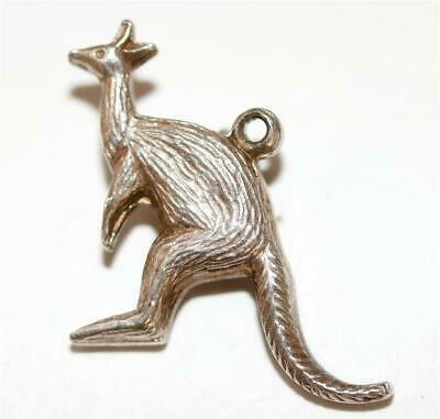 Kangaroo Sterling Silver 925 Vintage Bracelet Charm With Gift Box 2.1g