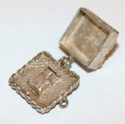 Wedding Cake Opening To Bed Sterling Silver Vintage Bracelet Charm
