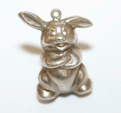 Silly Rabbit Sterling Silver 925 Vintage Bracelet Charm Pendant With Gift Box 2g