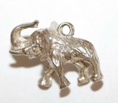 Lucky Elephant Sterling Silver 925 Vintage Bracelet Charm With Gift Box 4.5g