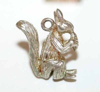 Squirrel Eating Nut Sterling Silver 925 Vintage Bracelet English Charm 3.6g