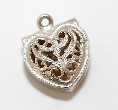 Heart Opening To A Ring Sterling Silver Vintage Bracelet Charm 4.2g
