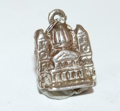 St Paul's Cathedral Church London England Sterling Silver Vintage Charm 6g
