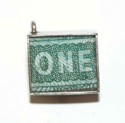 Emergency Money British One Pound Sterling Silver Vintage Charm 2.4g