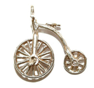 Moving Bicycle Sterling Silver 925 Vintage Bracelet Charm With Gift Box 2g