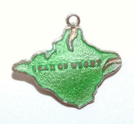 Isle Of Wight England Sterling Silver Enamel Vintage Charm By TLM