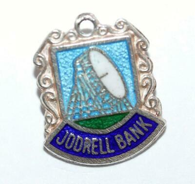 Jodrell Bank Observatory UK Sterling Silver Enamel Travel Shield Vintage Charm