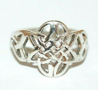 Celtic Weave Knot Band Ring 925 Sterling Silver Size 6.5
