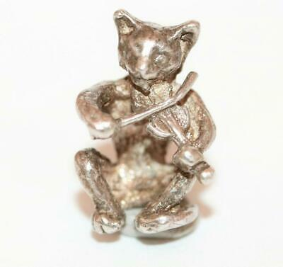 Rare 1960's Cat And The Fiddle Nursery Rhyme Sterling Silver Vintage Charm 5g