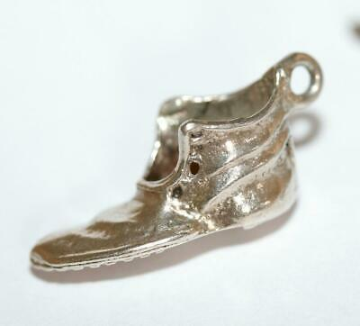 Worn Out Boot Shoe Sterling Silver Vintage Bracelet Charm With Gift Box 3g