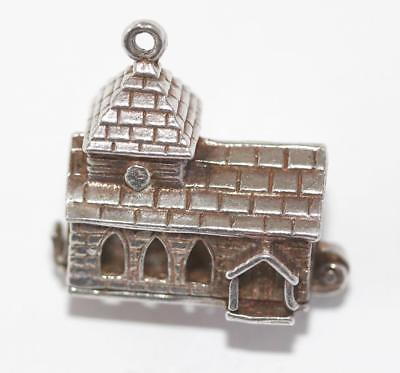 Rare Nuvo Opening Wedding Church Sterling Silver Enamel Vintage Charm
