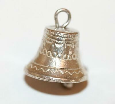Nuvo Christmas Bell With Moving Clapper Sterling Silver Bracelet Charm 2.4g