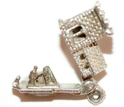 Opening Wedding Church Sterling Silver Vintage Bracelet Charm 3.5g