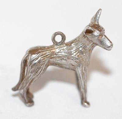 German Shepherd Dog Sterling Silver 925 Vintage Bracelet Charm 7g