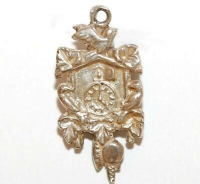 German Cuckoo Clock 800 Silver Vintage Bracelet Charm With Gift Box 1.8g