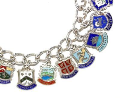 Vintage Wales Charm Silver and Enamel Hanging Charm for a Charm Bracelet or other Jewellery Craft
