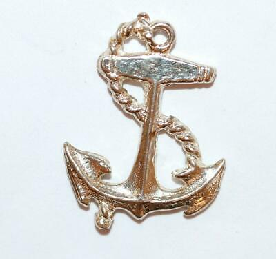 Anchor With Rope Sterling Silver Vintage Bracelet Charm Pendant With Gift Box