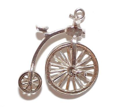 Nuvo Moving Bicycle Sterling Silver 925 Vintage Bracelet Charm 1.7g