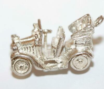Chim Old Time Classic Car Sterling Silver Vintage Charm With Gift Box 5.4g