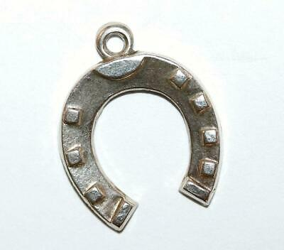 Lucky Horseshoe Sterling Silver 925 Charm Pendant With Gift Box 1.7g