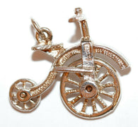 Chim Rare Moving Bicycle Sterling Silver Vintage Charm, Different