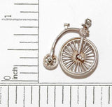 Nuvo Bicycle With Turning Wheels Sterling Silver Vintage Bracelet Charm
