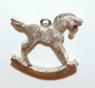 Rocking Horse Sterling Silver 925 Vintage Charm With Gift Box 2.4g