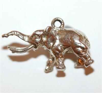 Lucky Elephant Trunk Up Sterling Silver Vintage Charm With Gift Box 3.9g