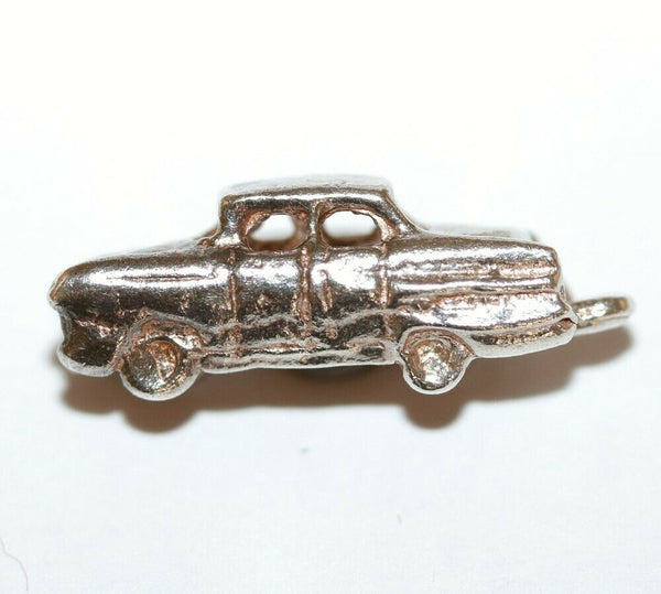 1960's Sedan Car Sterling Silver 925 Vintage Bracelet Charm With Gift Box 2.6g