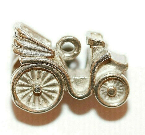 3d Classic Car Sterling Silver Vintage Bracelet Charm With Gift Box 4.4g